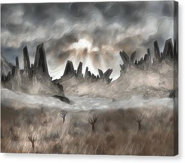 Through The Mist Canvas Print by Jack Zulli