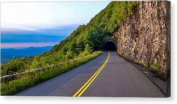 Through The Mountain Canvas Print by Brian Young