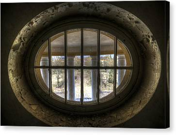 Through The Round Window Canvas Print by Nathan Wright