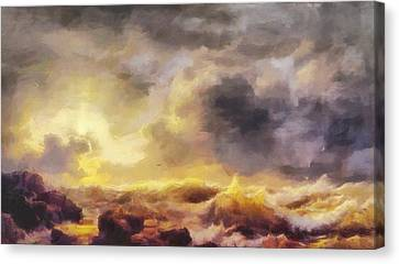 Through The Storm Canvas Print by Dan Sproul