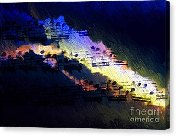 Canvas Print featuring the digital art Through The Storm by Lon Chaffin