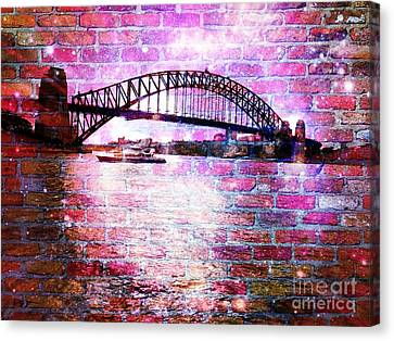 Sydney Harbour Through The Wall 1 Canvas Print