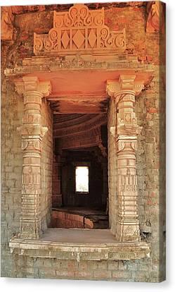 When Windows Become Art - Jain Temple - Amarkantak India Canvas Print by Kim Bemis