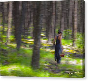 Through The Woods 2 Canvas Print by Theresa Tahara
