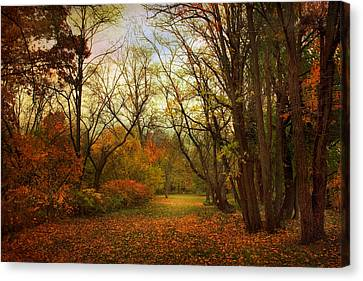 Through The Woods Canvas Print by Jessica Jenney
