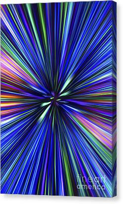 Through The Wormhole.. Canvas Print by Nina Stavlund