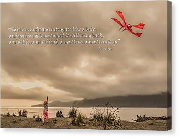 Canvas Print - Throw Your Dreams... by R J Ruppenthal