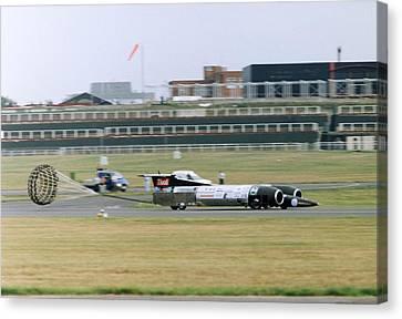 Thrust Ssc Supersonic Car Tests Canvas Print