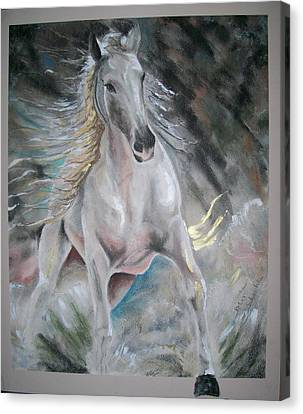 Canvas Print featuring the mixed media Thrusting Out by Peter Suhocke