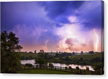 Summer Thunderstorm Canvas Print - Thuderstorm by Alexey Stiop
