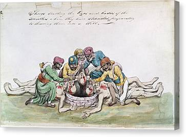 Thugs Canvas Print - Thugs Mutilating The Bodies by British Library