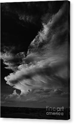 Canvas Print featuring the photograph Thunder Cloud by Karen Slagle