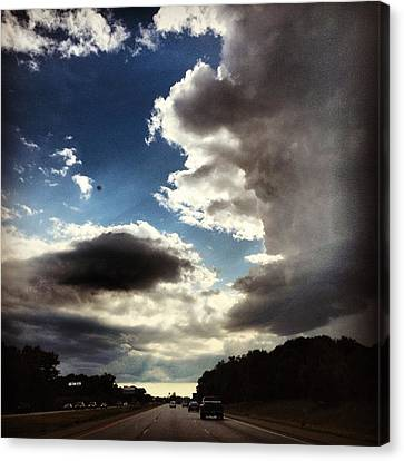 Landscapes Canvas Print - Thunder Clouds by Christy Beckwith