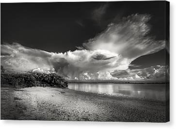 Thunder Head Comming Bw Canvas Print by Marvin Spates