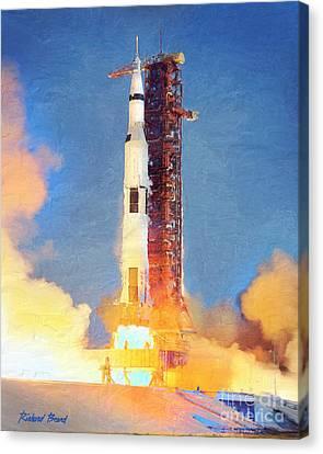 Thunder Of Apollo Saturn V Canvas Print