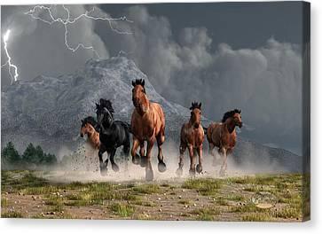 Thunder On The Plains Canvas Print by Daniel Eskridge