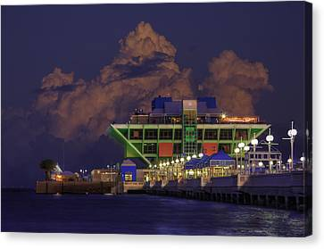 Thunder Storm At The Pier Canvas Print by Marvin Spates