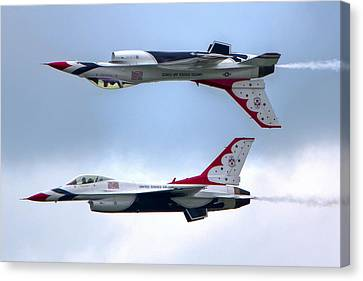 Canvas Print featuring the photograph Thunderbirds by Brent Durken