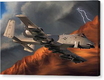 Dale Jackson Canvas Print - Thunderbolt II by Dale Jackson