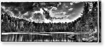 Thunderclouds Over Cary Lake Canvas Print by David Patterson