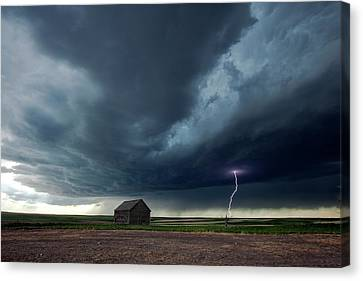 Thunderstorm And Barn Canvas Print