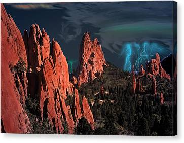 Thunderstorm At Garden Of The Gods Canvas Print