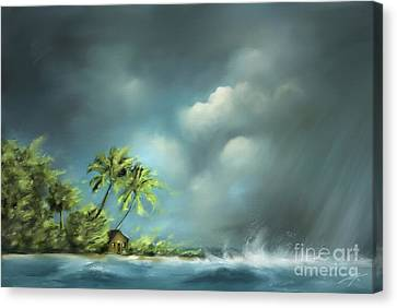 Thunderstorm At Jupiter Beach Canvas Print by S G