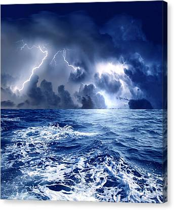 Thunderstorm Canvas Print by Boon Mee