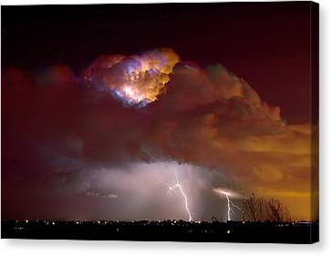 Thunderstorm Boulder County Colorado   Canvas Print