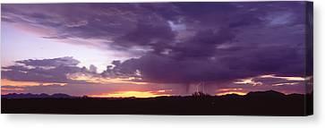 Thunderstorm Clouds At Sunset, Phoenix Canvas Print