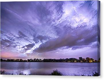 The Lightning Man Canvas Print - Thunderstorm Combustion  by James BO  Insogna