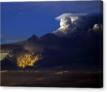 Canvas Print featuring the photograph Thunderstorm II by Greg Reed