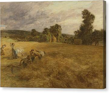 Thunderstorm In The Harvest Canvas Print