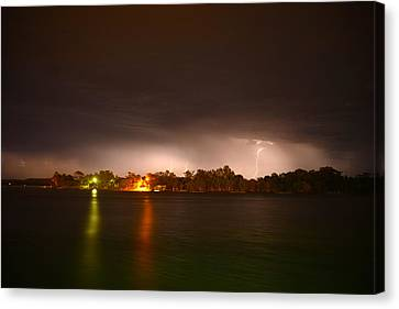 Thunderstorm On The Hasting River Canvas Print