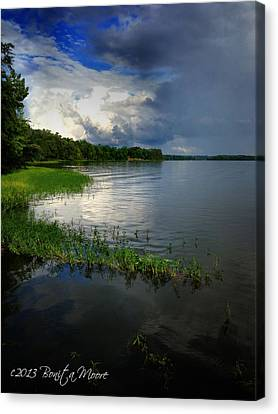 Thunderstorm On The Water Canvas Print by Bonita Moore
