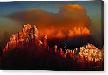 Thunderstorm Over Sedona Canvas Print by Dale Jackson