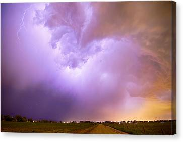 Thunderstorm Tidal Wave Canvas Print by James BO  Insogna