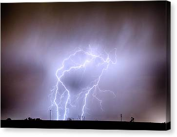 James Insogna Canvas Print - Thunderstorm Triple Threat by James BO  Insogna