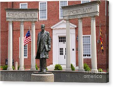 Thurgood Marshall Statue - Equal Justice For All Canvas Print