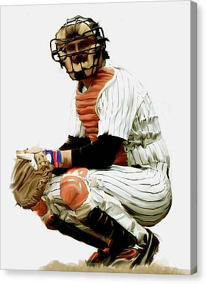 Thurman Munson  Canvas Print by Iconic Images Art Gallery David Pucciarelli