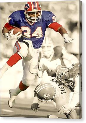 Barry Sanders Canvas Print - Thurman Thomas by Brian Reaves