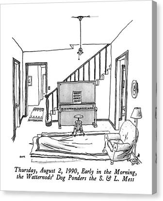 Thursday, August 2, 1990, Early In The Morning Canvas Print
