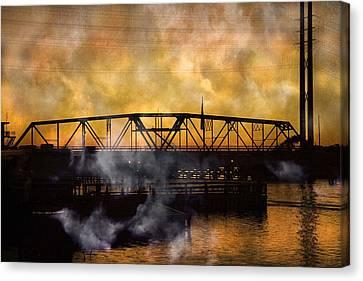 Ti Swing Bridge Ghost Canvas Print by Betsy Knapp
