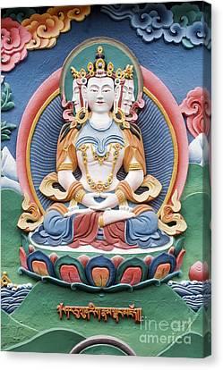 Tibetan Buddhist Temple Deity Sculpture Canvas Print by Tim Gainey