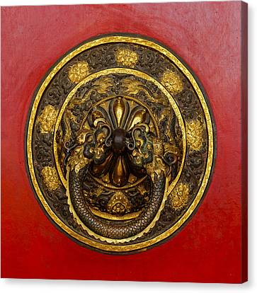 Tibetan Buddhism Canvas Print - Tibetan Door Knocker by Dutourdumonde Photography