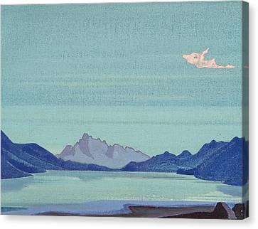 Tibetan Lakes Canvas Print by Nicholas Roerich