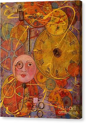 Canvas Print featuring the painting Tic Toc by Jane Chesnut