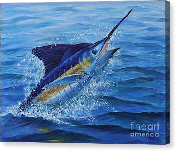 Ticked Off Blue Marlin Canvas Print