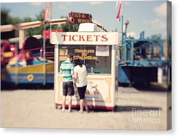 Ticket Booth Canvas Print by K Hines