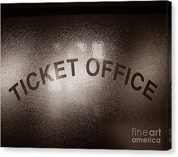 Ticket Office Window Canvas Print